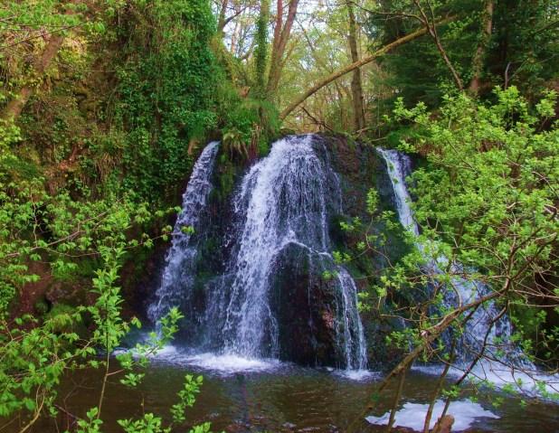 spring green waterfall