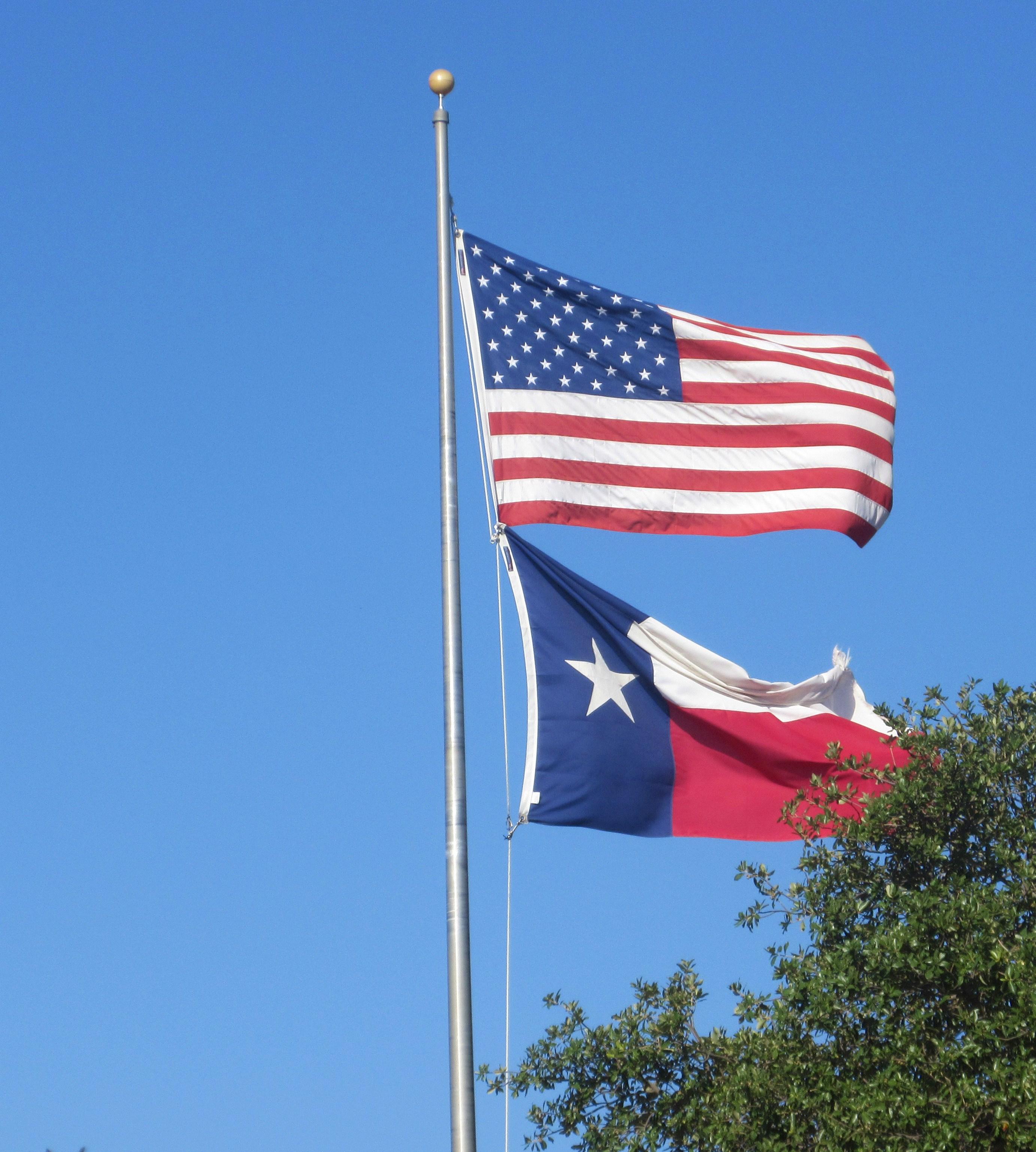 US & Texas Flags
