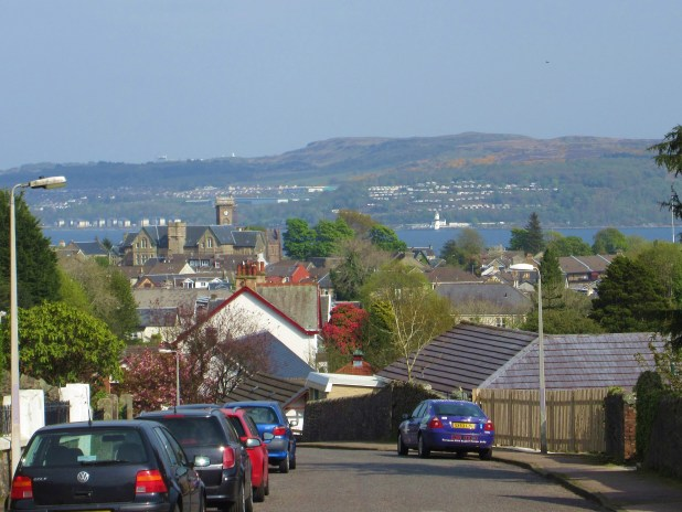 view from Hillfoot Street Dunoon