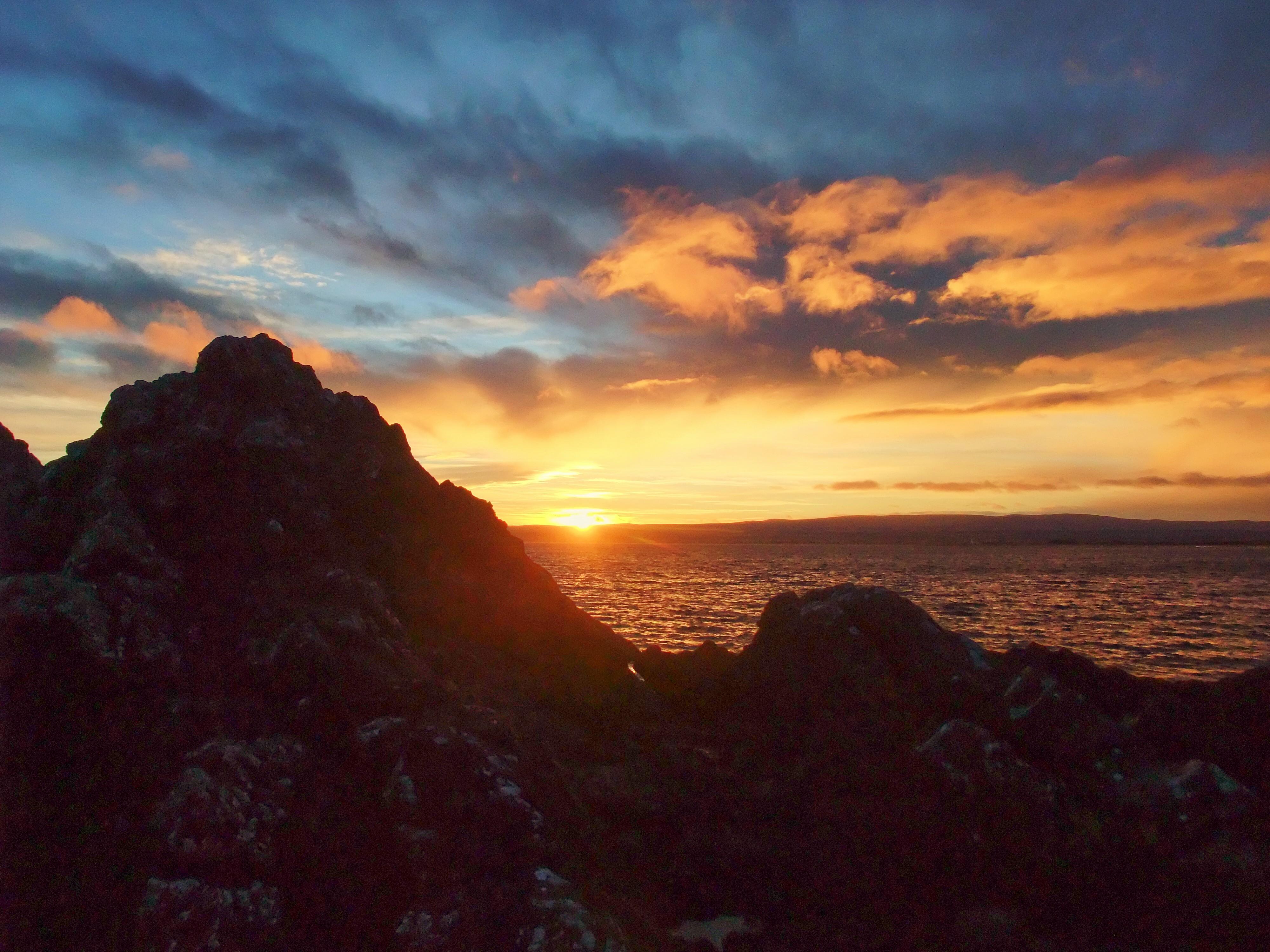 sunrise over rocks