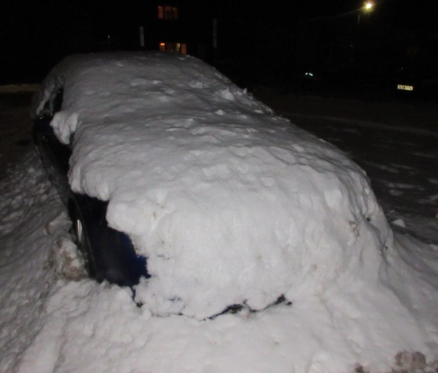 blog night car snow