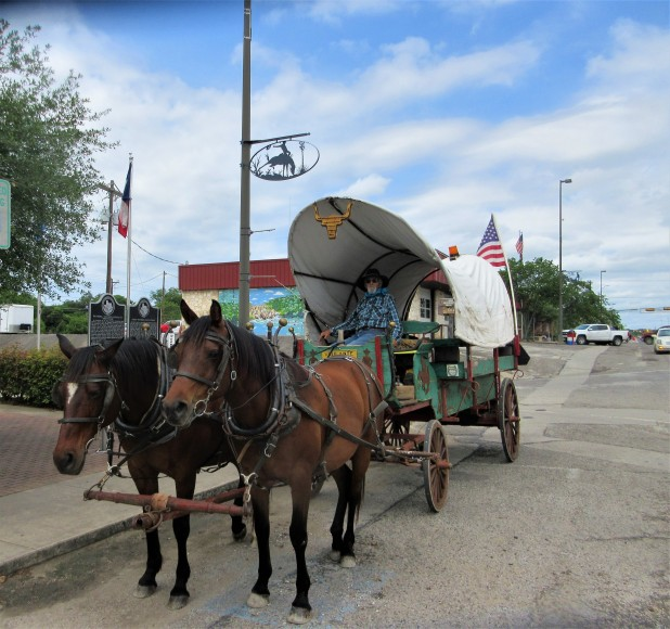 horses and wagon main street