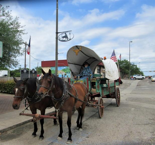 horses and wagon main street