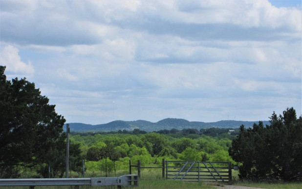 texas hill country gate and view