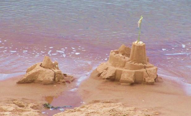 sand castle ruins